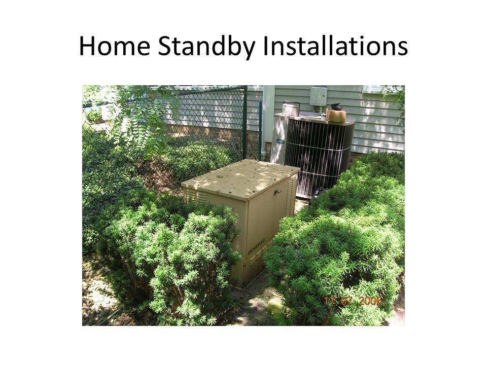 Generator Specialist Home Standy Installations
