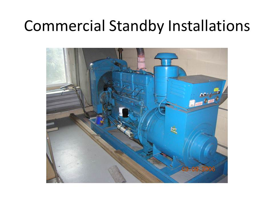 Generator Specialist Commercial Standy Installations